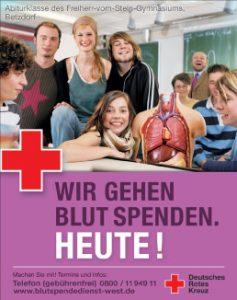 Wir spenden Blut - heute - Plakat der Werbekampagne